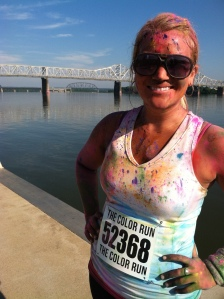 5K Color Run Me at the  Finish Line