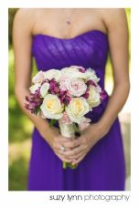 Bridesmaid Bouquet with a little less purple and a little more white. Classic and romantic