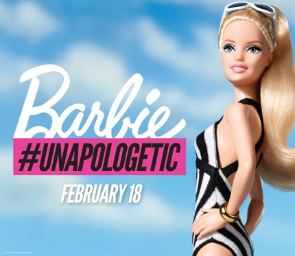 Barbie's #Unapologetic Campaign (photo: Twitter/Barbie)